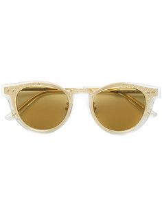 солнцезащитные очки в круглой двухслойной оправе Bottega Veneta Eyewear