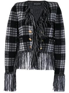 пиджак с бахромой  Balmain