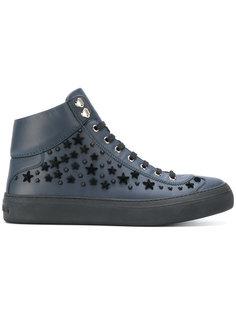 кроссовки с декоратвиными звездами Argyle Jimmy Choo