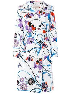 пальто с цветочным принтом Emilio Pucci