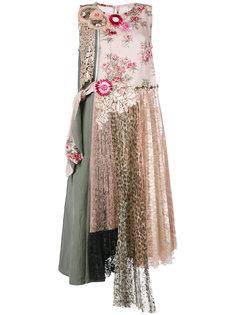 многослойное платье с рисунком Antonio Marras