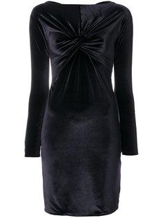 бархатное платье с драпировкой Versace Vintage