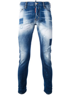выбеленные джинсы Dsquared2