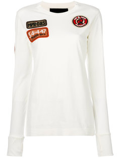 embellished patch longsleeved T-shirt Mr & Mrs Italy