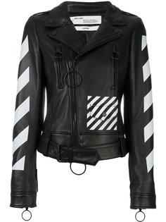 куртка с диагональным узором  Off-White