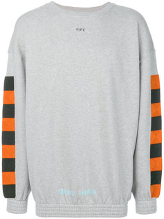 checker crewneck sweatshirt Off-White