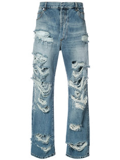 мешковатые джинсы с потертой отделкой Balmain