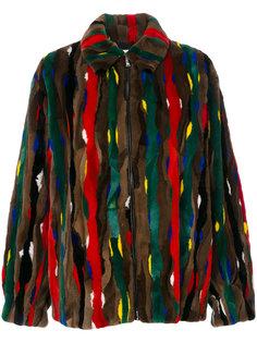 полосатая куртка-бомбер   Marni