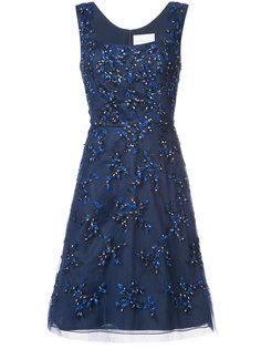 платье из тюля с пайетками Carolina Herrera