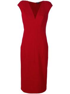 узкое платье с панельным дизайном Tom Ford