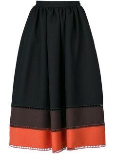 юбка в полоску  Fendi