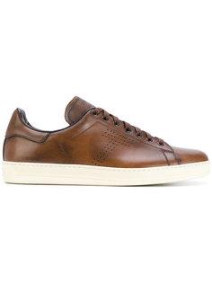 кожаные кроссовки на шнуровке Tom Ford