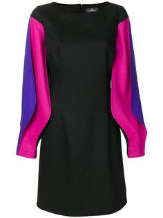 приталенное платье с длинными рукавами  Capucci