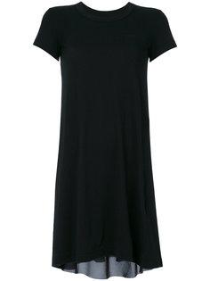 платье-футболка с контрастной вставкой Sacai