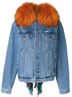 raccoon fur trim jacket  Forte Couture