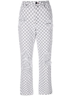 checkered straight jeans Alexander Wang