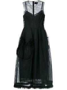 платье с прозрачными вставками Simone Rocha