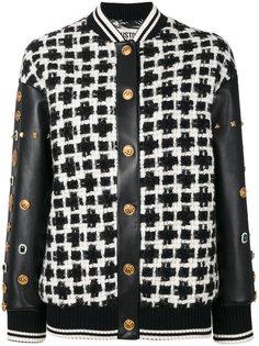 куртка-бомбер с заклепками на рукавах  Fausto Puglisi