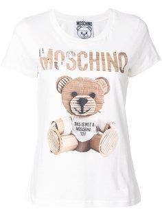футболка с логотипом-медведем  Moschino