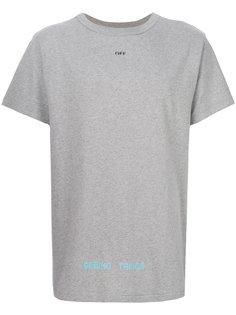 футболка в шашечку сзади Off-White