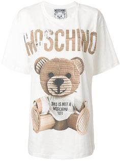 свободная футболка с медведем  Moschino