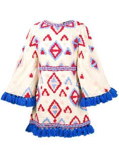 расклешенное платье с кисточками по краям Mochi