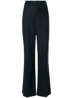 полосатые брюки клеш Pierre Balmain
