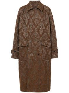 двубортное пальто с узором пейсли Uma Wang