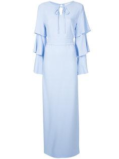 платье с многослойными рукавами Osman