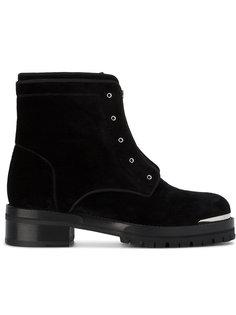 бархатные байкерские ботинки Alexander McQueen