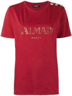 футболка с принтом с логотипом Balmain