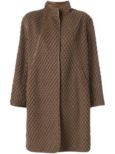текстурированное пальто Issey Miyake Vintage