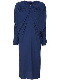 платье с драпировкой и присборенным воротом  Marni