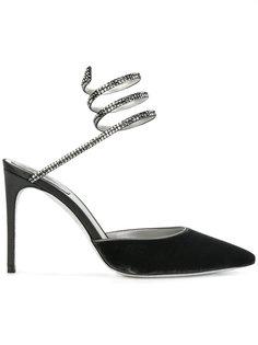 туфли с лентой из кристаллов René Caovilla