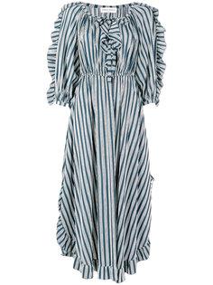 расклешенное платье в полоску  Sonia Rykiel