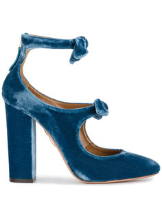 туфли-лодочки с бантами Sandy Aquazzura