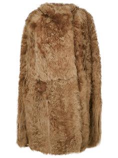 свободное пальто без рукавов  Yves Salomon