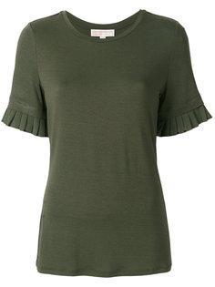 футболка с плиссировкой на рукавах  Michael Michael Kors