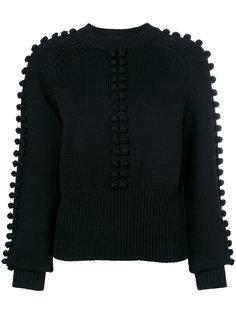 свитер с помпонами  Chloé