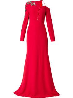 асимметричное платье с отделкой  Antonio Berardi