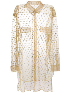 блестящая прозрачная декорированная рубашка Maison Margiela