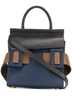 сумка-тоут с контрастным ремешком Marni