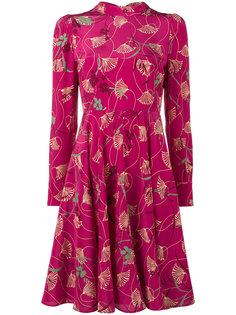 платье с цветочным принтом Valentino