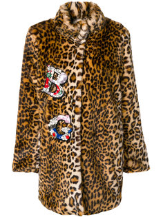 embellished faux fur coat Blugirl