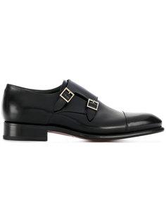 туфли монки с пряжками Santoni