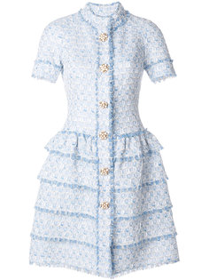 платье-рубашка букле Oscar de la Renta