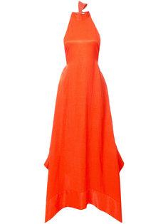 вечернее платье с вырезом-петлей халтер Solace