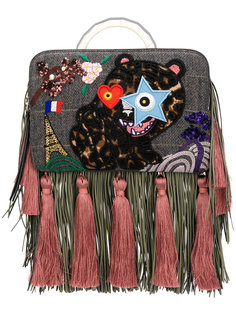 fringe Bon-Bon Tiger bag The Volon
