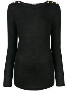 свитер с пуговицами  Balmain