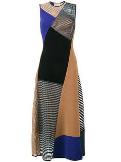 платье шифт в стиле пэчворк  Roksanda